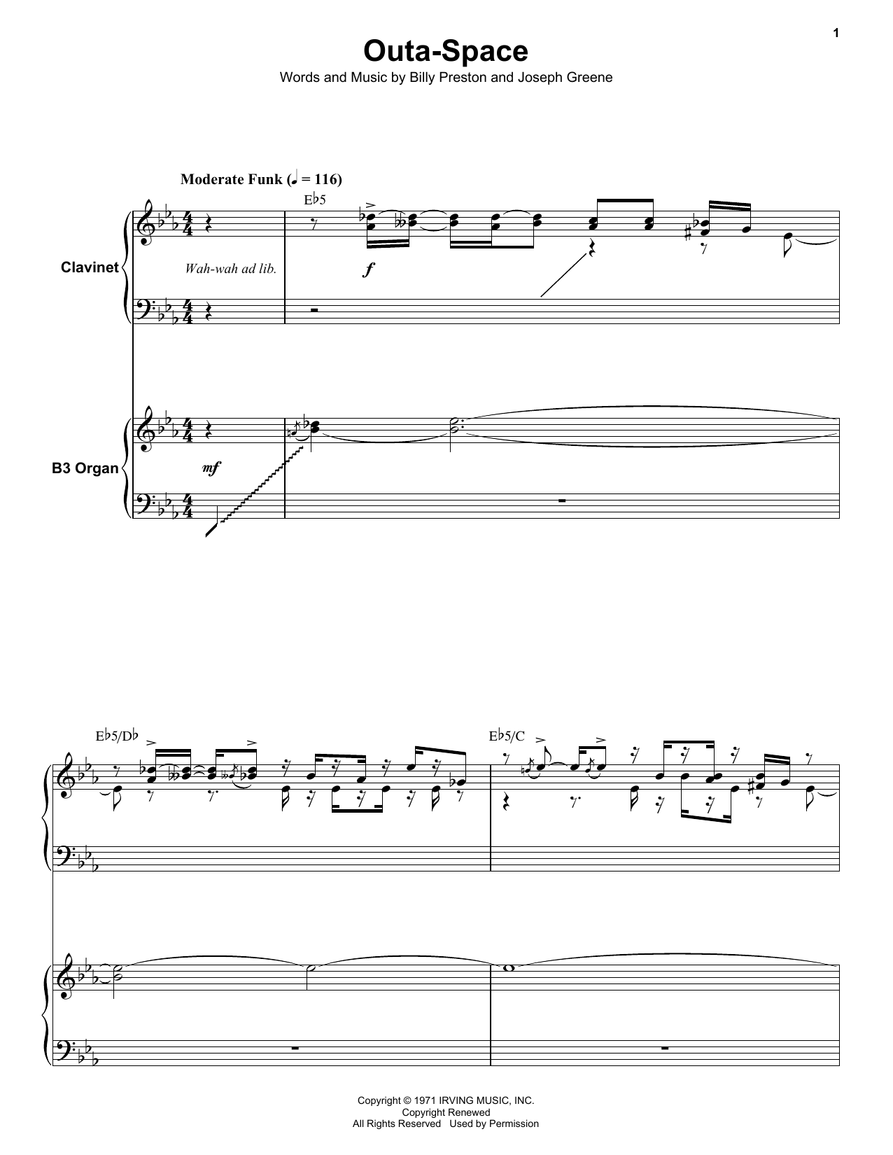 Outa-Space Sheet Music