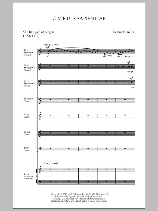 O Virtus Sapientiae Sheet Music