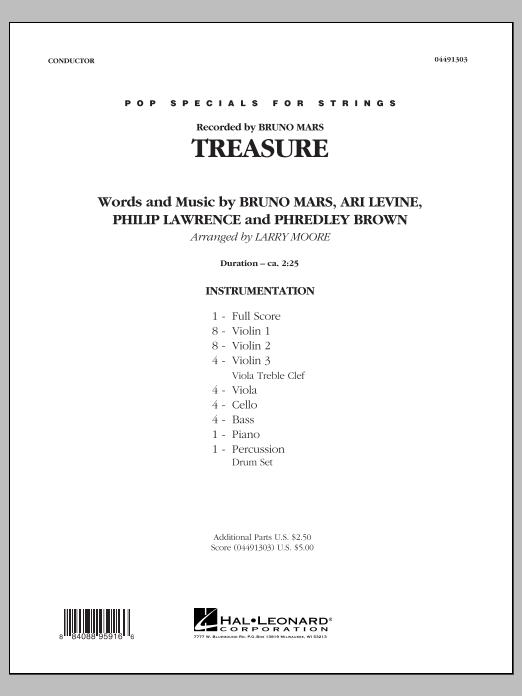 Treasure - Conductor Score (Full Score) (Orchestra)