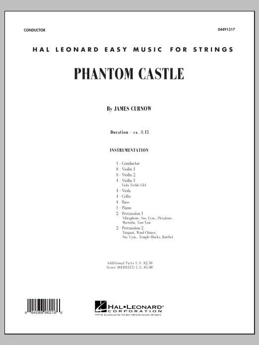 Phantom Castle (COMPLETE) sheet music for orchestra by James Curnow. Score Image Preview.
