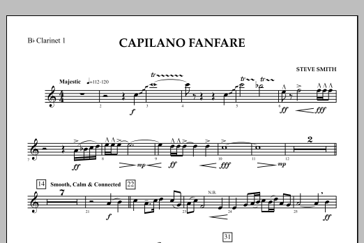 Capilano Fanfare (Digital Only) - Bb Clarinet 1 (Concert Band)