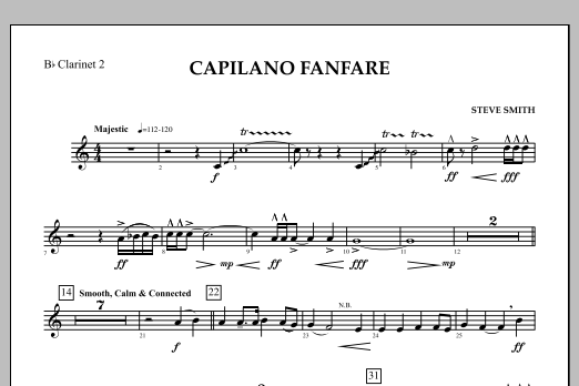 Capilano Fanfare (Digital Only) - Bb Clarinet 2 (Concert Band)