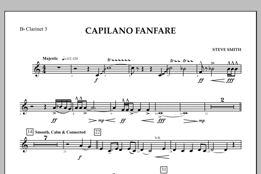 Capilano Fanfare (Digital Only) - Bb Clarinet 3 (Concert Band)