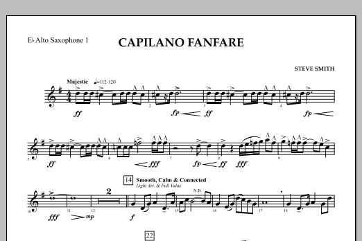 Capilano Fanfare (Digital Only) - Eb Alto Saxophone 1 (Concert Band)