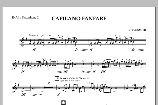 Capilano Fanfare (Digital Only) - Eb Alto Saxophone 2 (Concert Band)