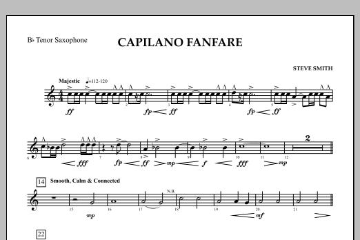 Capilano Fanfare (Digital Only) - Bb Tenor Saxophone (Concert Band)