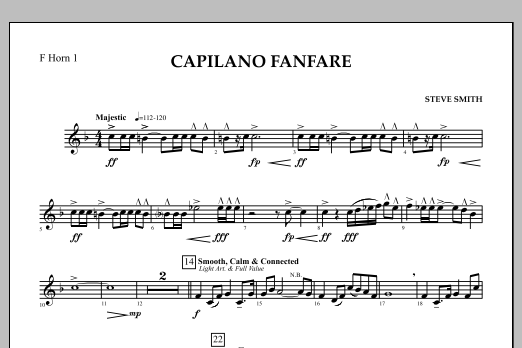 Capilano Fanfare (Digital Only) - F Horn 1 (Concert Band)