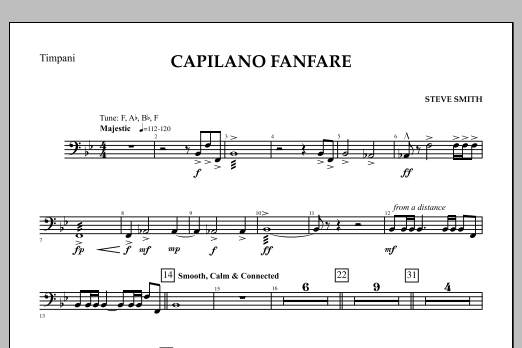 Capilano Fanfare (Digital Only) - Timpani (Concert Band)