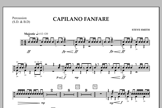 Capilano Fanfare (Digital Only) - Percussion (Concert Band)
