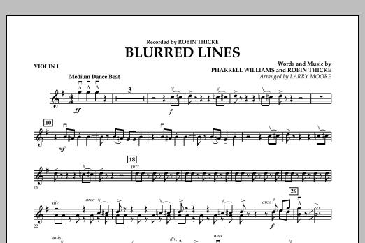 Blurred Lines - Violin 1 (Orchestra)