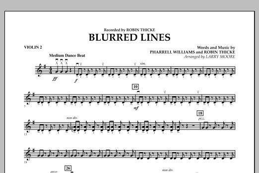 Blurred Lines - Violin 2 (Orchestra)