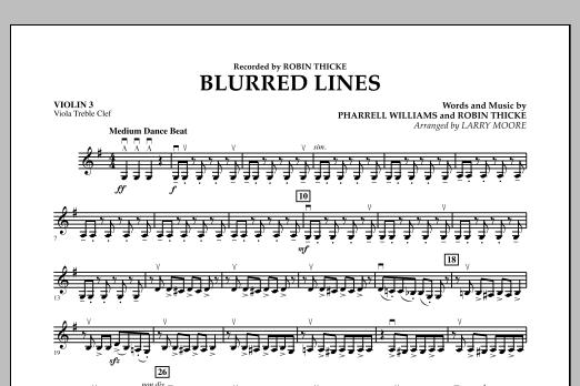 Blurred Lines - Violin 3 (Viola Treble Clef) (Orchestra)