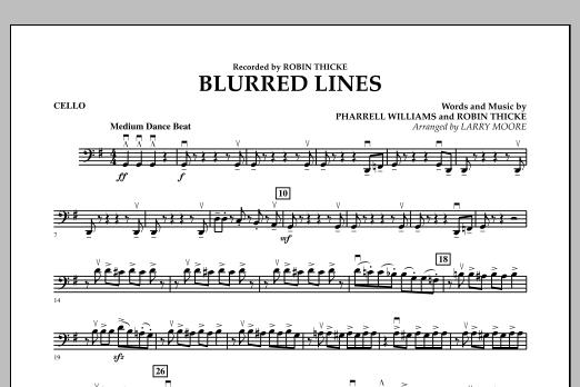 Blurred Lines - Cello (Orchestra)