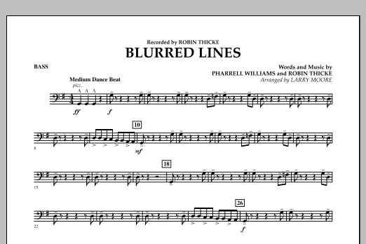 Blurred Lines - Bass (Orchestra)