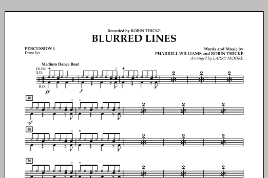 Blurred Lines - Percussion 1 (Orchestra)
