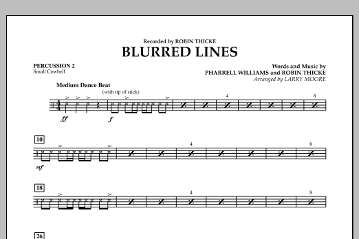 Blurred Lines - Percussion 2 (Orchestra)