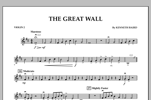 The Great Wall - Violin 2 (Orchestra)