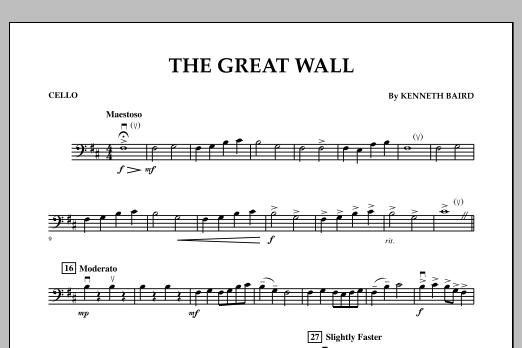 The Great Wall - Cello (Orchestra)