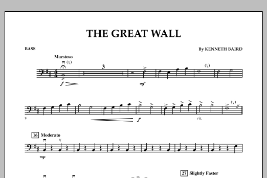 The Great Wall - Bass (Orchestra)