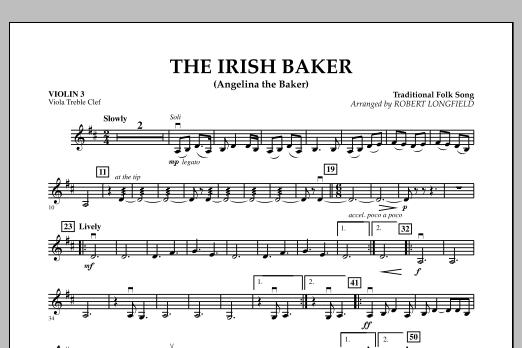 The Irish Baker (Angelina the Baker) - Violin 3 (Viola Treble Clef) (Orchestra)