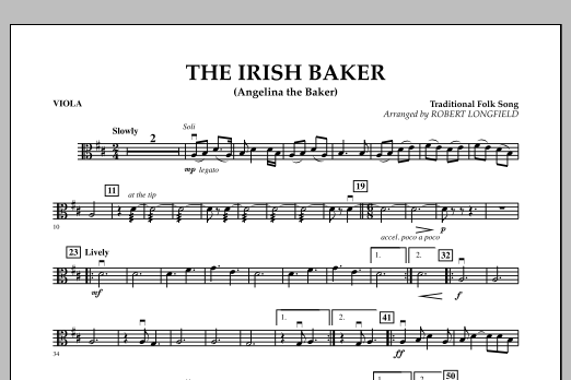 The Irish Baker (Angelina the Baker) - Viola (Orchestra)