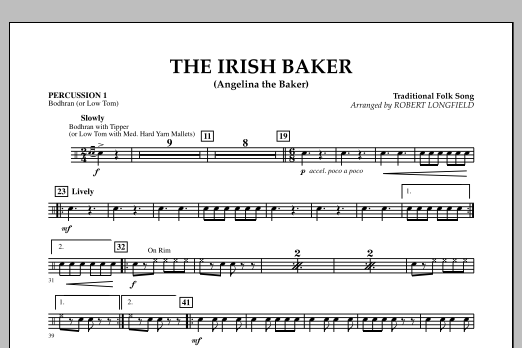 The Irish Baker (Angelina the Baker) - Percussion 1 (Orchestra)