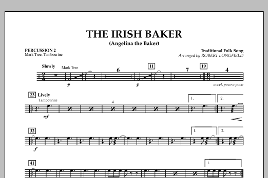 The Irish Baker (Angelina the Baker) - Percussion 2 (Orchestra)
