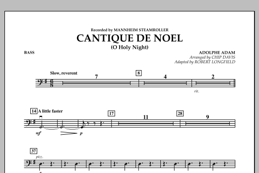 Cantique de Noel (O Holy Night) - Bass (Orchestra)