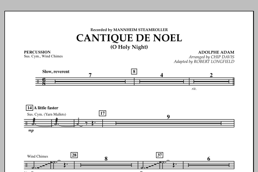 Cantique de Noel (O Holy Night) - Percussion (Orchestra)
