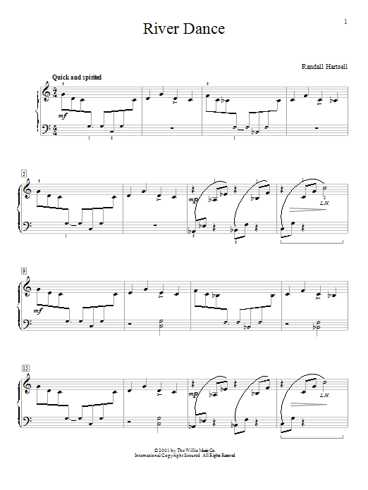 River Dance Sheet Music
