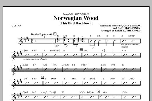 Norwegian Wood (This Bird Has Flown) - Guitar (Choir Instrumental Pak)