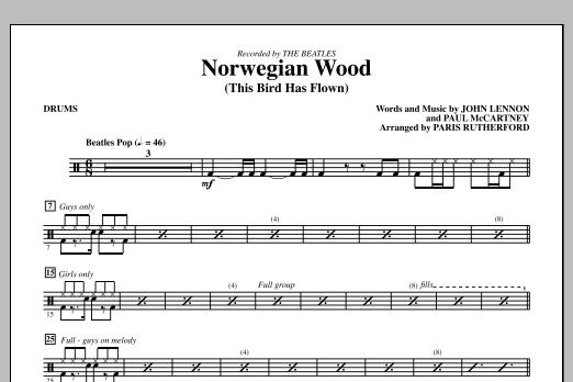 Norwegian Wood (This Bird Has Flown) - Drums (Choir Instrumental Pak)