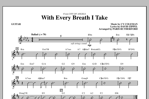 With Every Breath I Take (from City of Angels) - Guitar (Choir Instrumental Pak)