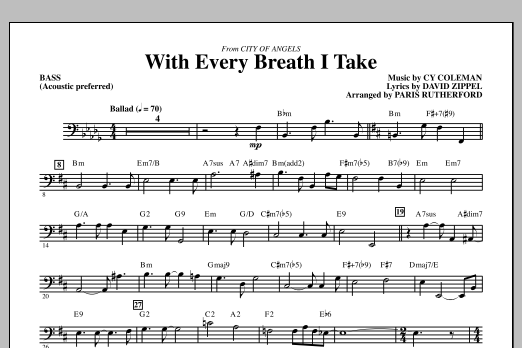 With Every Breath I Take (from City of Angels) - Bass (Choir Instrumental Pak)