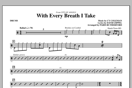 With Every Breath I Take (from City of Angels) - Drums (Choir Instrumental Pak)