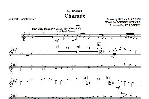 Charade - Alto Sax (Choir Instrumental Pak)