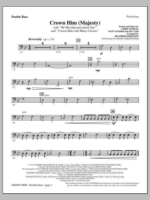 Crown Him (Majesty) - Double Bass (Choir Instrumental Pak)