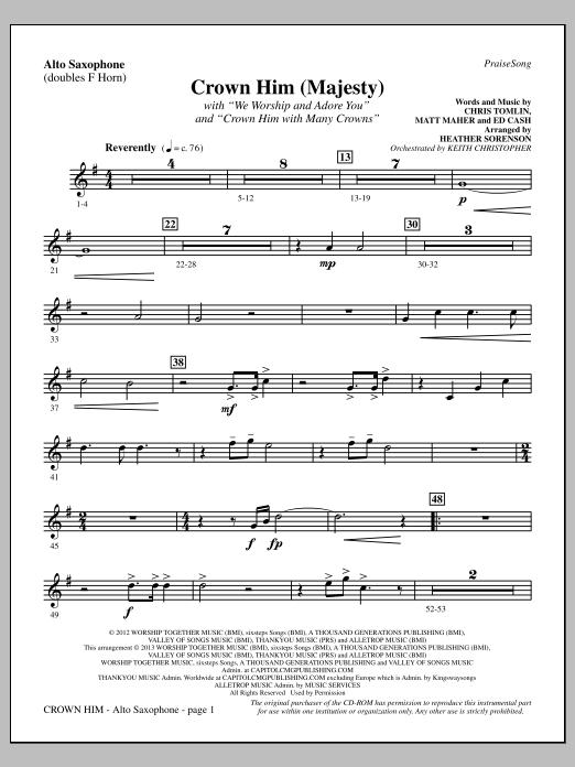 Crown Him (Majesty) - Alto Sax (sub. Horn) (Choir Instrumental Pak)