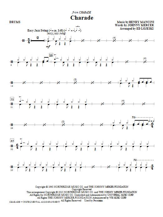Charade - Drums (Choir Instrumental Pak)