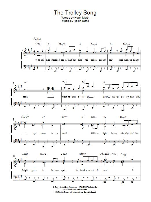 meet me st louis trolley song lyrics