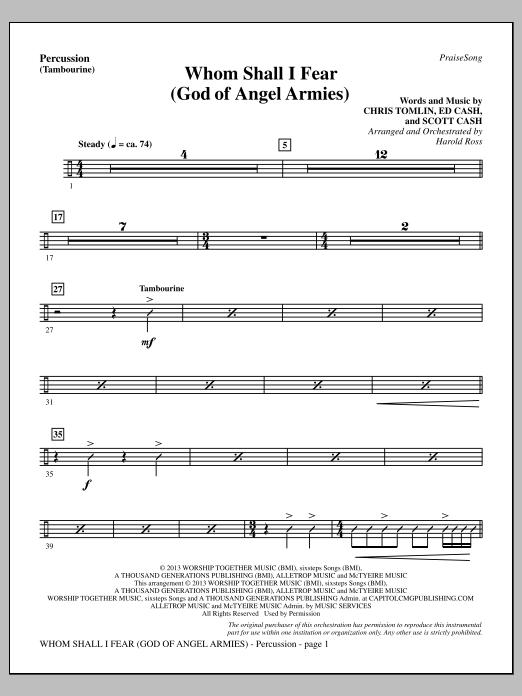 Whom Shall I Fear (God of Angel Armies) - Percussion (Choir Instrumental Pak)