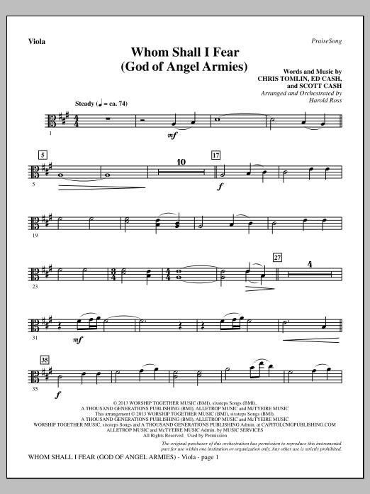 Whom Shall I Fear (God of Angel Armies) - Viola (Choir Instrumental Pak)