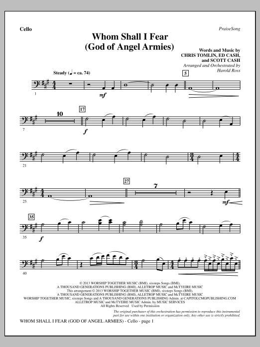 Whom Shall I Fear (God of Angel Armies) - Cello (Choir Instrumental Pak)