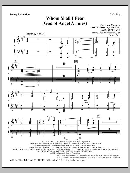 Whom Shall I Fear God Of Angel Armies Keyboard String Reduction