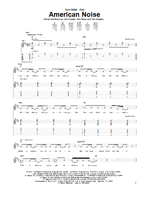 American Noise Sheet Music Direct