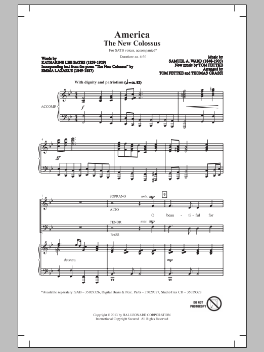 America (The New Colossus) Sheet Music