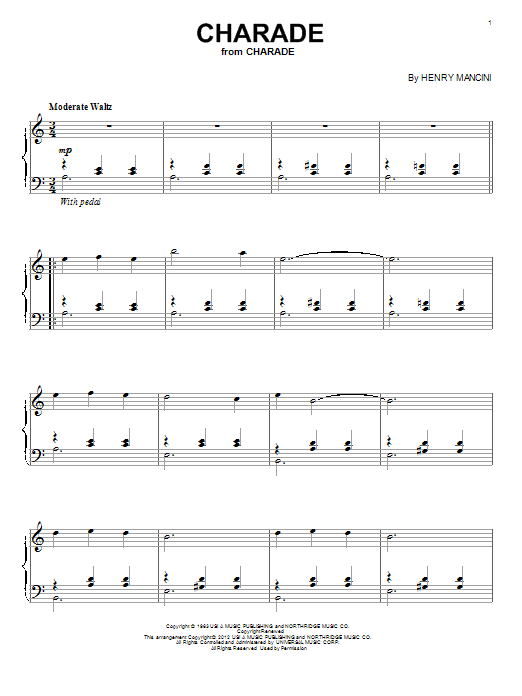 Charade Sheet Music