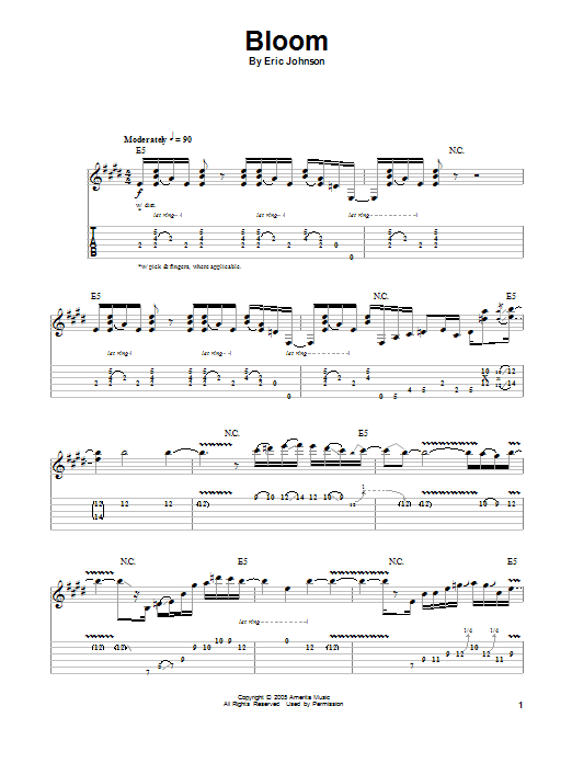Bloom Sheet Music