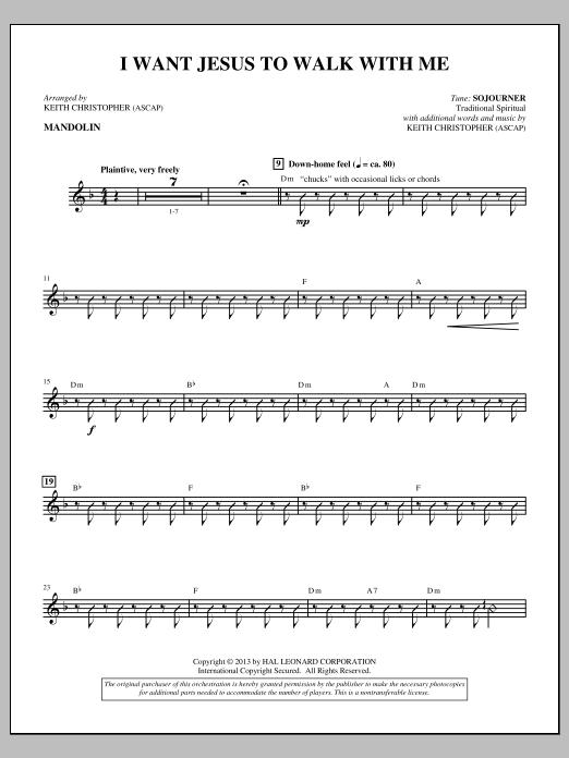 I Want Jesus to Walk with Me - Mandolin/Banjo (Choir Instrumental Pak)