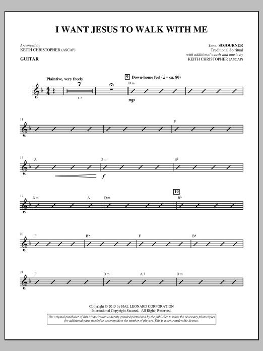 I Want Jesus to Walk with Me - Guitar (Choir Instrumental Pak)